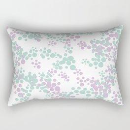 Mint and lavender color splash Rectangular Pillow
