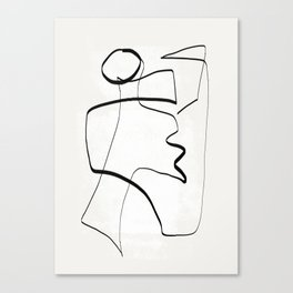 Abstract line art 6 Canvas Print