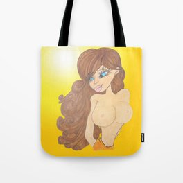 brunette beauty Tote Bag