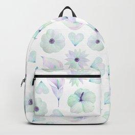 Blush lavender green watercolor elegant floral pattern Backpack