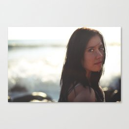 Caught By The Ocean Canvas Print