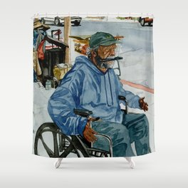 Homeless Series 1 ~ Sunset Blvd., Los Angeles, CA. Shower Curtain