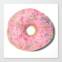 donut Canvas Prints featuring Donut by Hannah Catherine