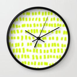 The green green grass of home - a handmade pattern Wall Clock