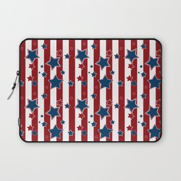 Blue stars, red striped Laptop Sleeve