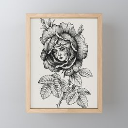 Sad Rose Framed Mini Art Print