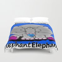 baby elephant Duvet Covers featuring Elephant(Baby) by Vivian Fortunato