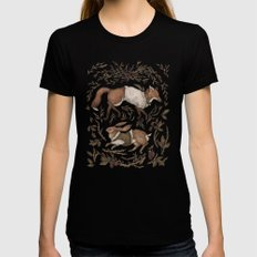 Tricksters MEDIUM Womens Fitted Tee Black