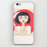 mia wallace iPhone & iPod Skins featuring Mia Wallace (Pulp Fiction)  by LoveCats