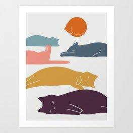 Cat Landscape 11 Art Print