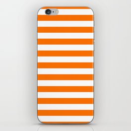 Turmeric Orange Beach Hut Horizontal Stripe Fall Fashion iPhone Skin