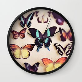 Butterfly Collection Wall Clock