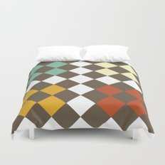Checkers Fall Duvet Cover