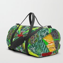 number 238 green on green with red pattern Duffle Bag