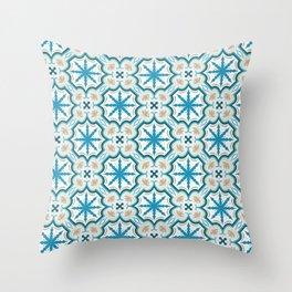 Seamless geometric arabesque oriental pattern. Throw Pillow