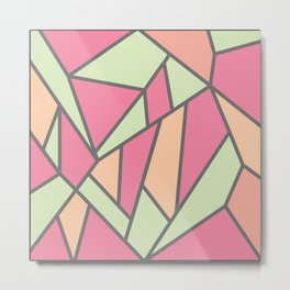 Geometric Colour Pattern V5 Metal Print