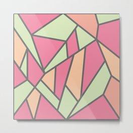 Geometric Colour Pattern V5 Metal Print