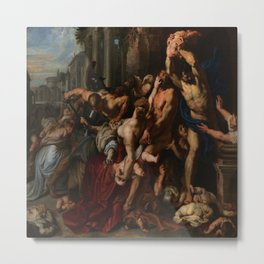 Peter Paul Rubens's Massacre of the Innocents Metal Print