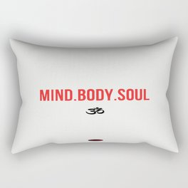Mind.Body.Soul Rectangular Pillow