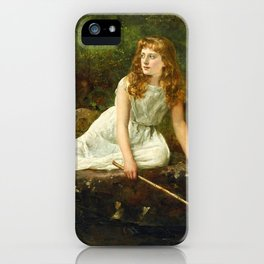 """John Collier """"The Butterfly inscribed 'Portrait of Mabel...'"""" iPhone Case"""