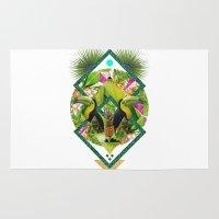 kris tate Area & Throw Rugs featuring ▲ TROPICANA ▲ by KRIS TATE x BOHEMIAN BLAST by ▲ BOHEMIAN BLAST ▲