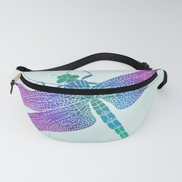 Purple Dragonfly Fanny Pack