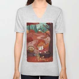 Autumn time | Giadina and mushrooms Unisex V-Neck