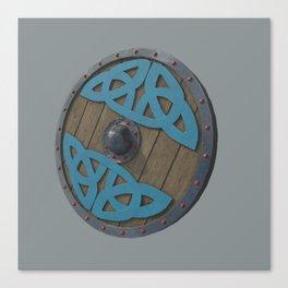 The Viking Shield - Grey Canvas Print