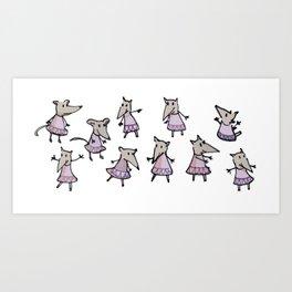 Lots of Mouses Art Print