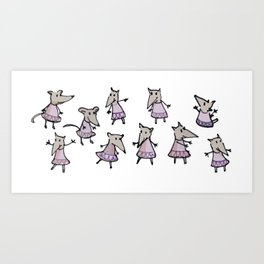Lots of Mouses Art Print