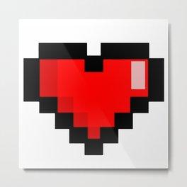 Game life retro heart Metal Print