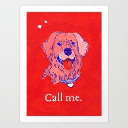 """Call Me"" Valentine's Day Card Art Print"