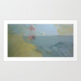 sailboat in the sea  Art Print