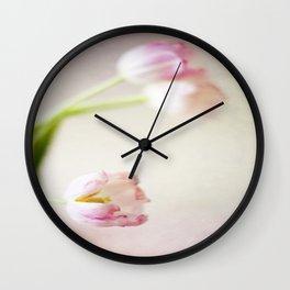 Lone Tulip Wall Clock