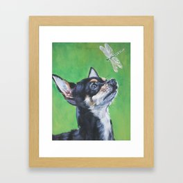 Chihuahua dog art portrait from an original painting by L.A.Shepard Framed Art Print