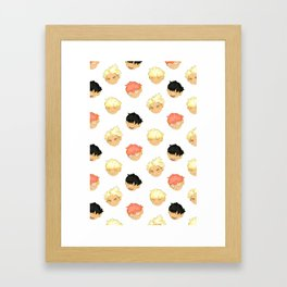 Huang Zitao Pattern Framed Art Print