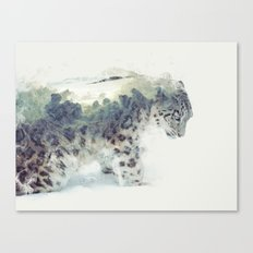 Snow Leopard II Canvas Print