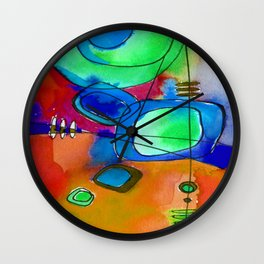 Magical Thinking No. 2F by Kathy Morton Stanion Wall Clock