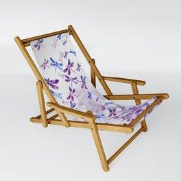 Dragonfly Lullaby in Pantone Ultraviolet Purple Sling Chair