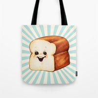 bread Tote Bags featuring Bread by Kelly Gilleran