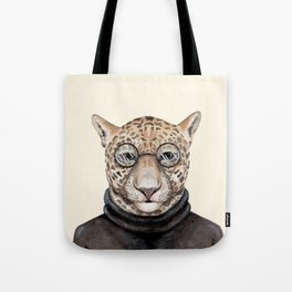 J is for a Jaguar Just Hangin' Out | Watercolor Jaguar Tote Bag