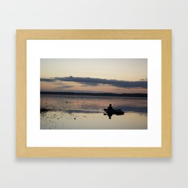 Hunting the lonely Waters Framed Art Print