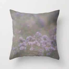 """and through the fog she found the flowers—and she was set free…"" Throw Pillow"