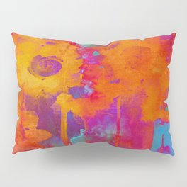 bright abstract bouquet Pillow Sham