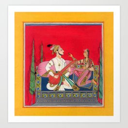 Ragamala Painting Art Print