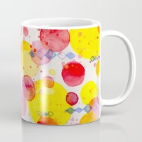 60s Mugs featuring Party 60s by Gabrielle LR illustration