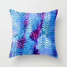 Pink amongst the Ripples Throw Pillow