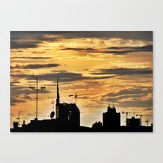 Milano City Skyline {Italy} Canvas Print