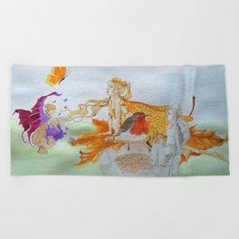 Watercolour painting of 'Fantasy' Beach Towel