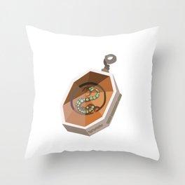 Salazar Slytherin's Locket Throw Pillow